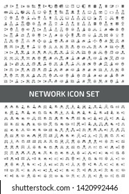 Network and database vector icon set design