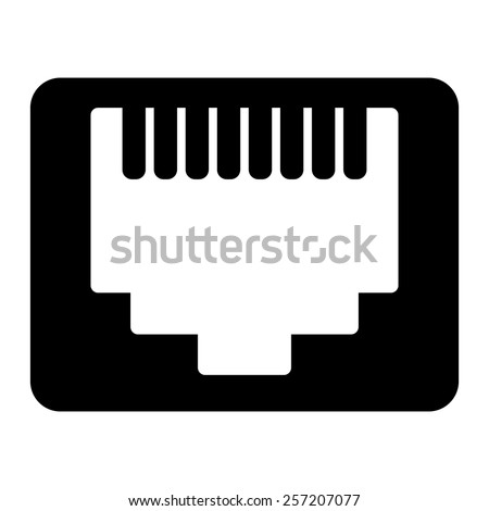 Network Ethernet Port Network Router Switch Stock Vector Royalty