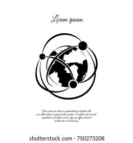 Network icon. Globalization icon