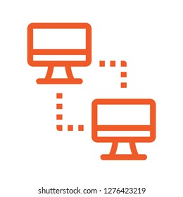 Network icon. Simple line icon. Isolate on white background. Vector.
