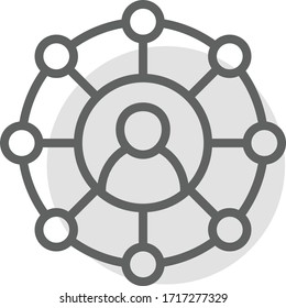 network icon vector illustration flat