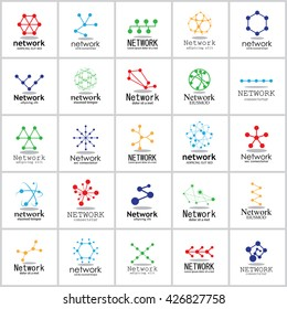 Network Icons Set - Isolated On White Background - Vector Illustration, Graphic Design