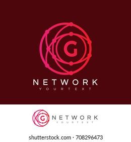 network initial Letter G Logo design