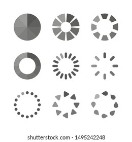 network loading set icons on white background, vector