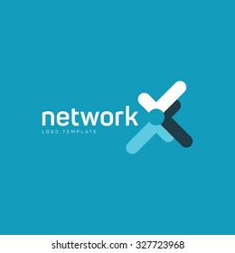Network logo. Digital logo. Company network logo. Vector color logo