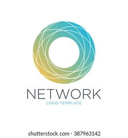 Network logo template. Digital logo. Technology logo