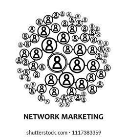 Network  Marketing icon for e-commerce. Can be used in web and mobile.Multi-level marketing (MLM). Vector EPS 10.