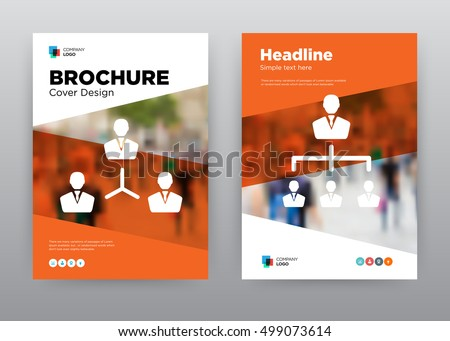network people orange employee exchange program stock vector