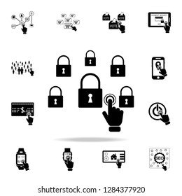 network security concept on touch screen icon. Detailed set of digital touch icons. Premium graphic design. One of the collection icons for websites, web design, mobile app