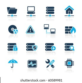 Network, Server & Hosting Web Icons // Azure Series