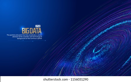 The network technology big data background constructed by cosmic particle vortex