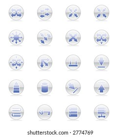 Network topology images stock photos vectors shutterstock network topology icon set vector publicscrutiny Images