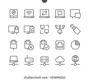 Network UI Pixel Perfect Well-crafted Vector Thin Line Icons 48x48 Ready for 24x24 Grid with Editable Stroke. Part 3-5
