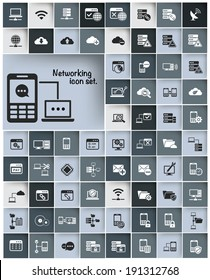 Networking & Communication icon set,vector