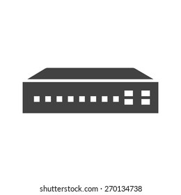 Networking switch, network, router icon vector image. Can also be used for communication, connection, technology. Suitable for web apps, mobile apps and print media.