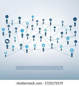 Networks - Connections - IoT, Cloud Computing, Social Media Concept Design