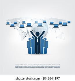 Networks - Online Business Connections, Remote Work, Social Media Concept Design