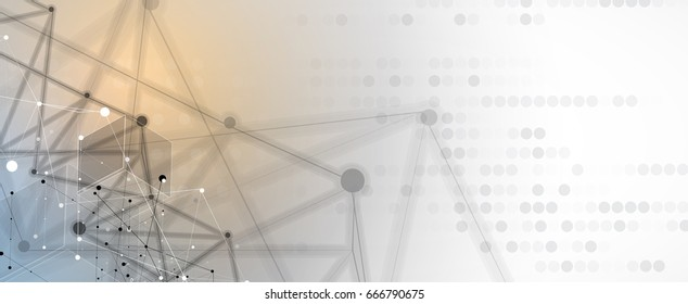 Neural network concept. Connected cells with links. High technology process. Abstract background