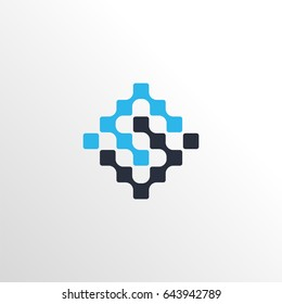 neuron letter s logo icon with clean background