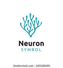 Neuron Nerve or Seaweed logo design inspiration