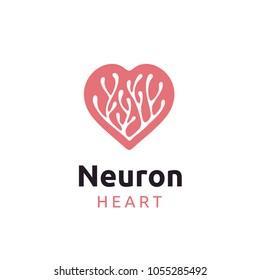 Neuron / Seaweed with Heart logo design inspiration