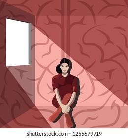Neuroscience - Woman Sitting Near Window Inside Room