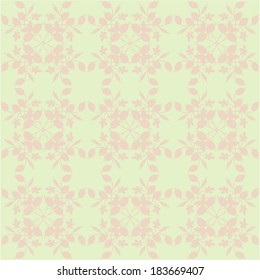 neutral floral background. swirls and curves.