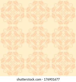 Neutral floral ornament. plant motives. beige tone. Use as wallpaper, pattern fill or a neutral backdrop. seamless texture