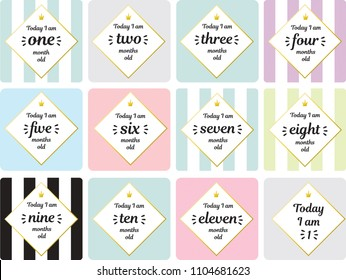 Neutral milestone card baby shower