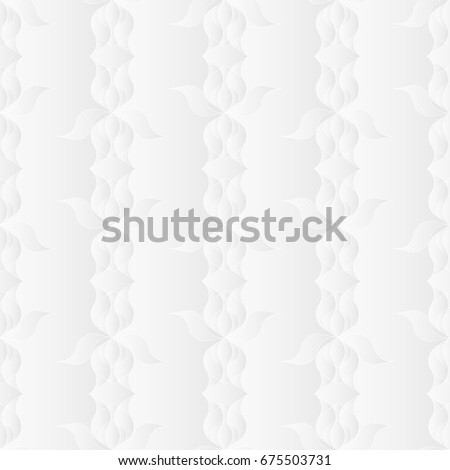 Neutral White Floral Art Deco Texture Stock Vector Royalty Free