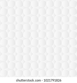 Neutral white texture. Abstract geometric background with 3d effect. Vector seamless repeating pattern.