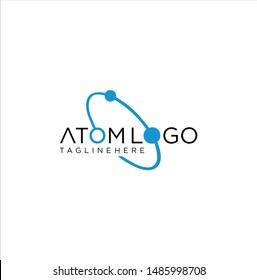 Neutron Atom Logo Icon Design Vector Stock