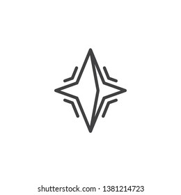 Neutron star line icon. linear style sign for mobile concept and web design. pulsar star outline vector icon. Symbol, logo illustration. Pixel perfect vector graphics
