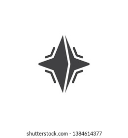 Neutron star vector icon. filled flat sign for mobile concept and web design. pulsar star glyph icon. Symbol, logo illustration. Pixel perfect vector graphics