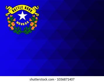 Nevada Flag vector illustration.Nevada Flag. National Flag of Nevada. Mosaic flag. Vector