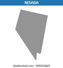 Nevada Map Vector - Editable maps