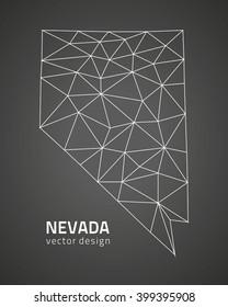 Nevada modern grey vector map