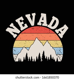 Nevada. Mountains Peaks, landscape early in a daylight. travel or camping, climbing. Outdoor hill tops.