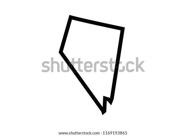 Nevada Outline Map State Shape United Stock Vector Royalty Free 1169193865