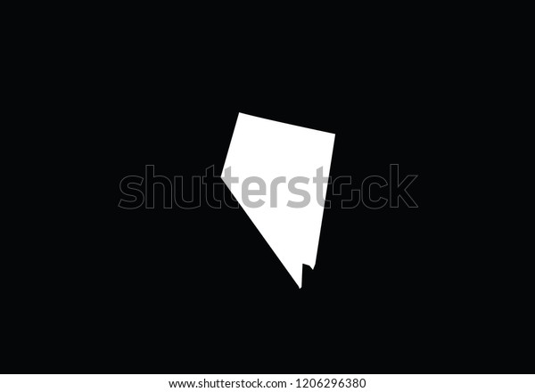 Nevada Outline Map State Shape Usa Stock Vector Royalty Free 1206296380