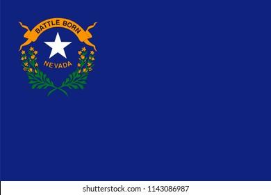 Nevada State Flag Shaped Heart United States America American Illustration Design