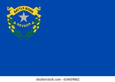 Nevada State Flag. Vector illustration.