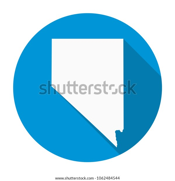 Nevada State Map Flat Icon Long Stock Vector (Royalty Free ...