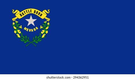 Nevada state national flag. Vector EPS8