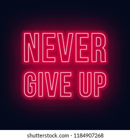 Never give up neon lettering on a dark background.
