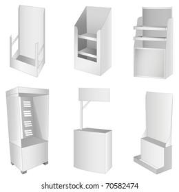 New 6 white display. Vector illustration