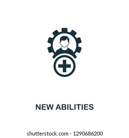 New Abilities icon. Premium style design from personality collection. Pixel perfect new abilities icon for web design, apps, software, printing usage.