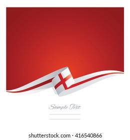 New abstract England flag ribbon