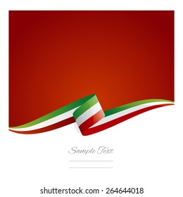 New abstract Italy flag ribbon