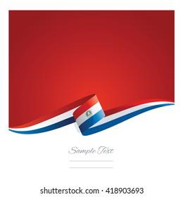 New abstract Paraguay flag ribbon
